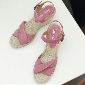 Splenid Suede Never been used Wedge Sandals!